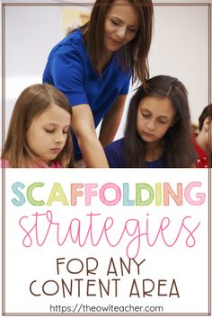 As I\'ve written previously scaffolding your instruction can feel daunting and overwhelming. However in this post I provide a list of authentic scaffolding strategies that you can start using immediately to help you meet the needs of all of your learners! Instructional Coaching, Instructional Strategies, Teaching Strategies, Teaching Tips, Instructional Technology, Siop Strategies, Teaching Techniques, Differentiated Instruction, Teaching Reading