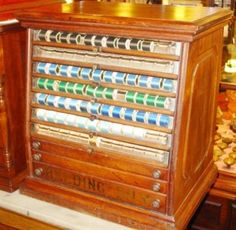 Antique spool cabinet.