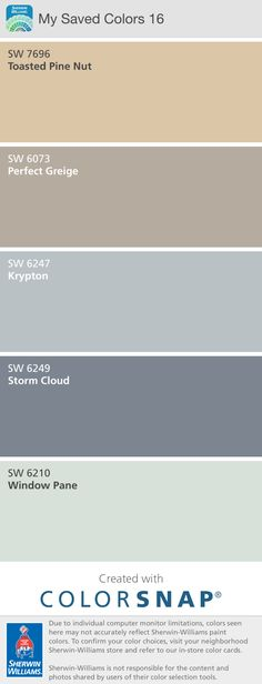 Living room paint colors--Plantation Brown for the walls, and Loggia for the trim Sherwin Williams Storm Cloud, Interior Wall Colors, Sherwin William Paint, Colour Pallette, Color Palate, Color Combos, Color Schemes, Paint Colors For Living Room, Complimentary Colors