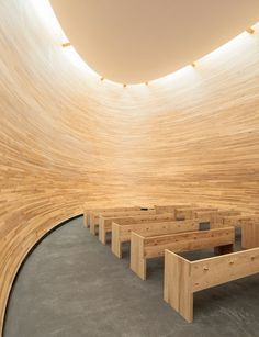Kamppi Chapel of Silence in Helsinki, Finland by K2S Architects...I need this somewhere in my next house. wooosaaa  A travel board about Helsinki Finland. Includes things to do in Helsinki, Helsinki nightlife, Helsinkik food, Helsinki tips and much more about what to do during holidays in Helsinki Finland. -- Have a look at http://www.travelerguides.net