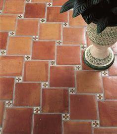 Pisos de Barro Clay Floor Tiles. Bathrooms