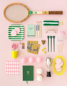 Wimbledon Party collection in green and pink | Oh Happy Day!