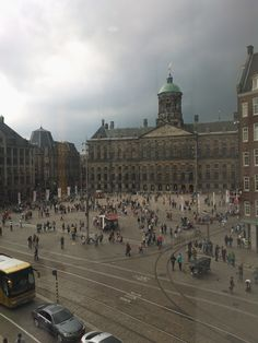 Dam Square, Amsterdam, July 28, 2012. Taken from Bijenkorf's second floor with my Nokia Lumia 800. It looks like a 17th century Dutch master.