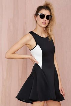 Out of Bounds Dress - Going Out | Fit-n-Flare | Party Perfect | Dresses | All | Clothes | Scuba |