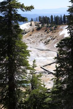 The National Park you've never heard of before! It's called Lassen Volcanic National Park and it has board walks built over boiling, steaming mud pits.