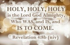Holy, holy, holy! merciful and mighty, God in three persons, blessed Trinity!