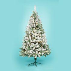 1.5m Prelit Snowflocked Tree