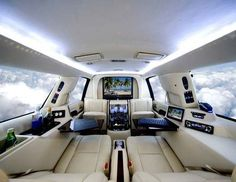 Everyone needs an office on their private jet... #luxuryprivatejet #luxuryhelicopter