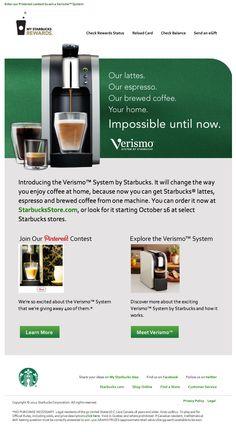 Starbucks rewards email campaign