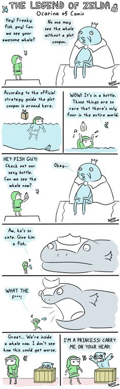 The Legend of Zelda: Ocarina of Time in a Nutshell.  I hated the freaking dungeon.