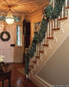 Ahhhh yes! At Christmastime, the garland and the wreath.