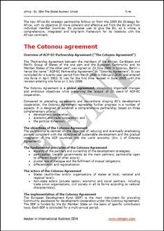 Afrika Eropa Perjanjian Cotonou