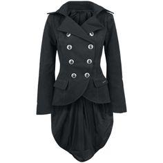 Sloopy Coat (Girls lange jas) van Queen Of Darkness