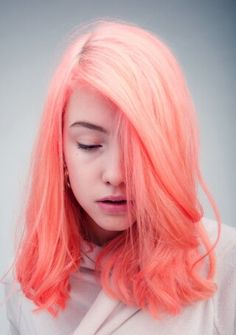 rich apricot through to soft orange ombre hair