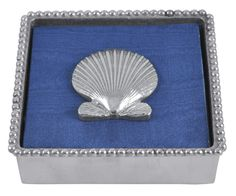 Cocktail Napkin Box With Scallop Shell Weight from Mariposa in Yardley, PA from Pink Daisy