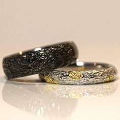 Unique Wedding Bands, Wedding Rings, Gold Platinum, Wood Texture, White Gold, Engagement Rings, Jewels, Stone, Yellow