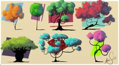 Trees by ~LandscapeRunner on deviantART ★ || CHARACTER DESIGN REFERENCES | キャラクターデザイン • Find more artworks at https://www.facebook.com/CharacterDesignReferences & http://www.pinterest.com/characterdesigh and learn how to draw: #concept #art #animation #anime #comics || ★