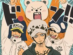 無断転載禁止⚠️I forbid the reproduction and manufacturing of my work without permission. I'm not good at English. Anime One Piece, One Piece Fanart, Fanarts Anime, Manga Anime, Heart Pirates, One Piece Drawing, One Peace, The Pirate King, One Piece Pictures