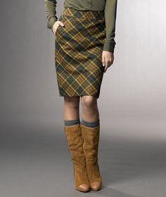 Love this outfit err half outfit ... I don't look great in pencil skirts though (I'll also take those socks and boots)