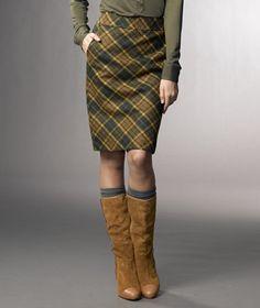 a perfectly plaid pencil skirt. #skirt #pencil #plaid #llbean