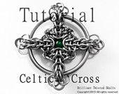 Tutorial for Celtic Cross Chain Maille Pendant