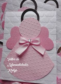 Christmas Ornament Crafts, Christmas Bags, Christmas Angels, Holiday Crafts, Communion Invitations, Baptism Invitations, Baby Crafts, Crafts For Kids, Homemade Gift Bags