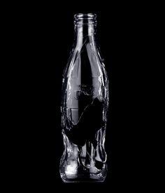 Broken Bottle by Kenyon Manchego Black Background Photography, Black Photography, Black And White Style, Back To Black, Black Dark, Coca Cola, Broken Bottle, Black Water, Shades Of Black
