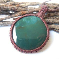 Bloodstone necklace macrame jewels adaptation by WrapMeACrystal
