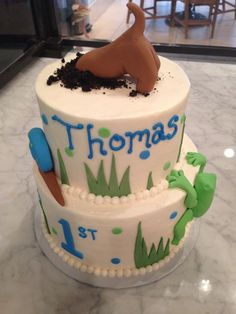 frogs and snails and puppy dog tails cake - Google Search