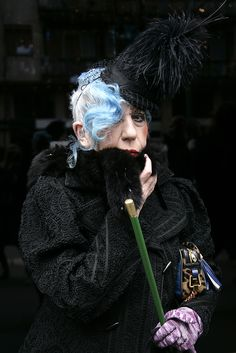 Anna Piaggi / Photographer Micol Sabbadini... One. I wanna be this lady when grow up. Two. I want that coat. Pronto!