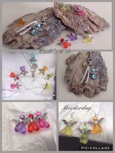DIY Angel, engeltjes voor aan een ketting of Sleutelhanger, oorbellen diverse kleuren te verkrijgen. Kado's & Zo