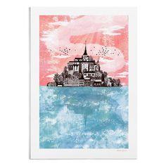 Mont Saint-Michel - A4 / A3 Artists Print