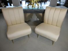 Gio Ponti - Pair of Upholstered Slipper Chairs
