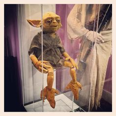 Just Frank Oz's Yoda Rehearsal Puppet Hanging Out