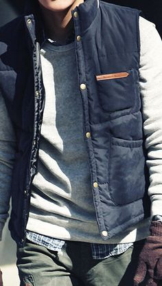 vest #Menswear Like our FB page https://www.facebook.com/effstyle