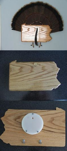 Birds 71123: Wild Turkey Tail Fan Display Mount - Red Oak - State Of Pennsylvania -> BUY IT NOW ONLY: $49.95 on eBay!