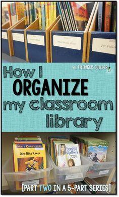 How I ORGANIZE My Classroom Library
