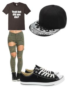 """""""Untitled #31"""" by ava-codo ❤ liked on Polyvore featuring Converse"""