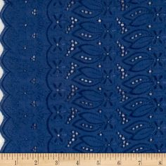 """This deeply embroidered eyelet has a scalloped edge on both ends (also known as a ''Galloon"""" embroidery). Great for blouses, dresses , fuller skirts and even home décor."""