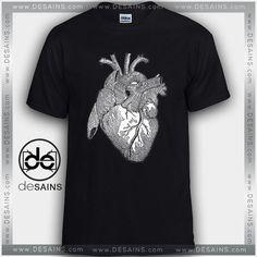 Cheap Graphic Tee Shirts Anatomical Heart On Sale //Price: $12 Gift Custom Tee Shirt Dress //     #Desains #Tees #Shirt #Dress
