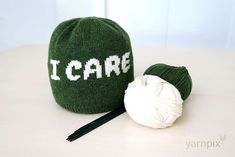 Knit an 'I CARE' Beanie, Designed By Nikki Smith-Morgan - FREE pattern!
