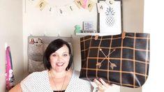 Meet my new favorite purse! In Caramel Windowpane Pebble and Double Arrow Personalization its gorgeous! #oneorganizedbaglady #thirtyone #thirtyonegifts #pursesandbags #bagsandpurses #totes