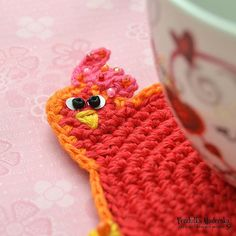Crochet hen coaster pattern by VendulkaM on Etsy