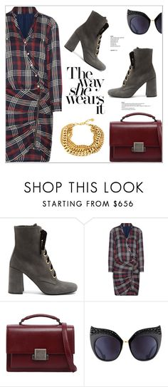"""The Way She Wears It"" by christinacastro830 ❤ liked on Polyvore featuring Prada, Veronica Beard, Yves Saint Laurent and Anna-Karin Karlsson"