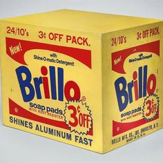 """95 Likes, 1 Comments - @gallerybrown on Instagram: """"Fun documentary on HBO, Brillo 3 cents off. #andywarhol #brillo 1963-64 silkscreen ink and house…"""""""