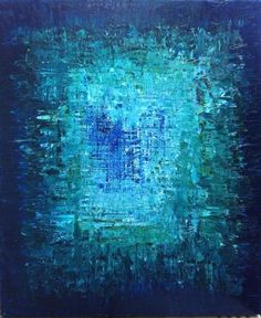 """HOLD for brcishere - Abstract Art Oil Original Painting Ocean Art, Ocean abstract Painting. Turquoise Blue, Sapphire Blue - """"THE ABYSS"""" These colors make me happy. Art Bleu, Ocean Art, Blue Art, Art Plastique, Art Oil, Painting Inspiration, Color Inspiration, Amazing Art, Awesome"""