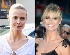 Heidi Klum: with and without make-up