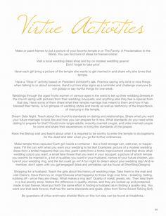 Stand & Shine Magazine: Virtue Activity Ideas
