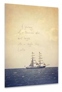 artboxONE Poster 60x40 cm Strand und Meer Typografie Sailing beige
