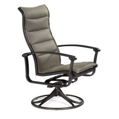 Tropitone Ovation Padded Sling Rocking Chair Finish: Parchment, Fabric: Sparkling Water